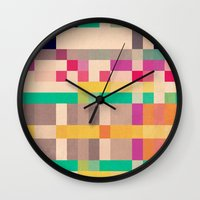 quilt Wall Clocks featuring quilt by spinL