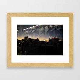 N Train Framed Art Print