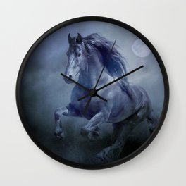 Running with the moon Wall Clock