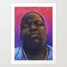 Biggie Smalls, The Notorious BIG - Hip Hop Art Print Art Print