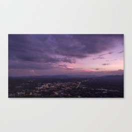 Asheville Stormy Nights Passing By Canvas Print