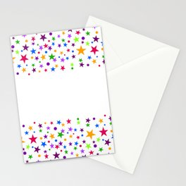 COLORFUL STARS Stationery Cards