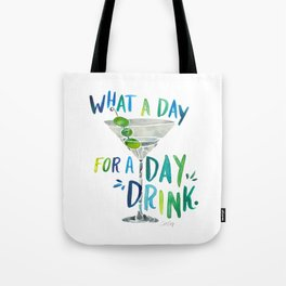 What a Day for a Day Drink – Blue & Green Palette Tote Bag