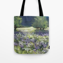 Fields of White and Purple Tote Bag
