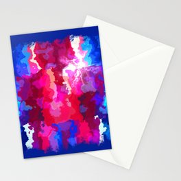 Blue Meltdown Stationery Cards