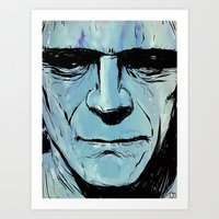 frankenstein Art Prints featuring Frankenstein by Giuseppe Cristiano