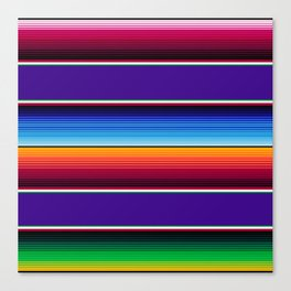 Traditional Mexican Serape in Purple Canvas Print