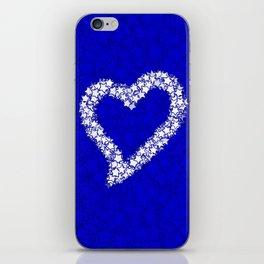 HEART GALAXY BLUE iPhone Skin