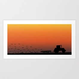 Ploughing the Field Art Print