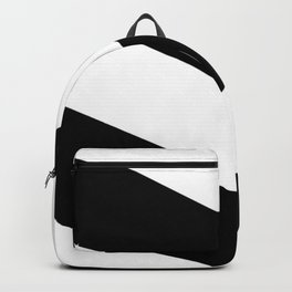 BLACK AND WHITE  DIAGONAL STRIPES  thick Backpack