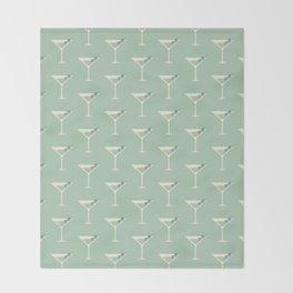 Shaken not Stirred Martini Seamless Pattern Throw Blanket