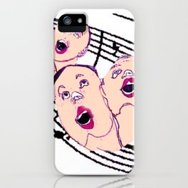 CHORAL SOCIETY           by Kay Lipton iPhone Case