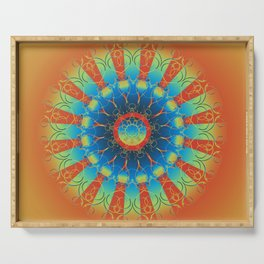 Earth Angel Mandala Serving Tray