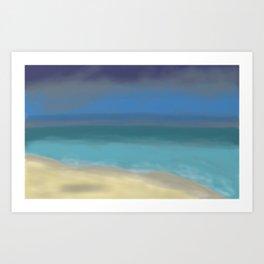 Sea after the Rain Seascape Painting Art Print