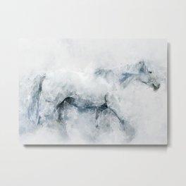 Watercolour Pony Horse Metal Print