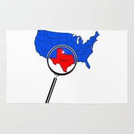 Texas Map Rug
