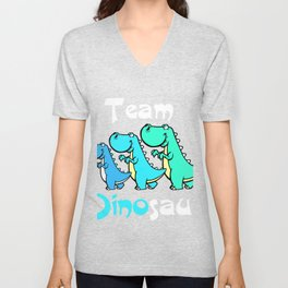 Team Dinosaur (Blues) Unisex V-Neck