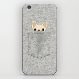 Pocket French Bulldog - Cream iPhone Skin