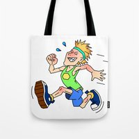 ironman Tote Bags featuring Ironman by diez artwork