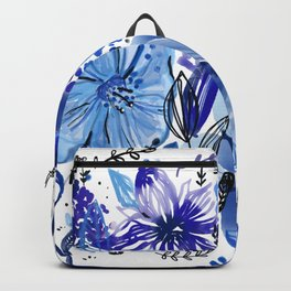 Blue flowers galore Backpack