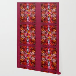 """Rose Huipil Embroidered"" Wallpaper"