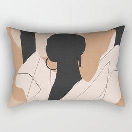 Minimal Abstract Art Sunset Girl 2 Rectangular Pillow