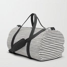 Distressed Hand Drawn Stripes Duffle Bag