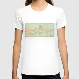Vintage Road Map of Long Island (1905) T-shirt