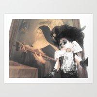 valentina Art Prints featuring Valentina by Lacruxx Lacroixx