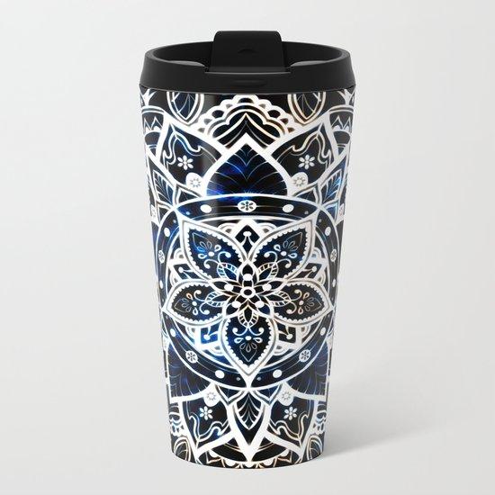 Radiant Zen Glowing Mandala Metal Travel Mug