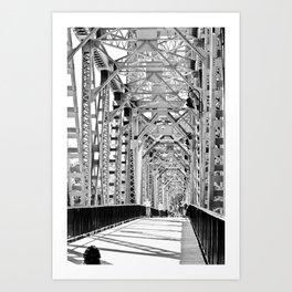 Union Street Railroad Bridge Art Print