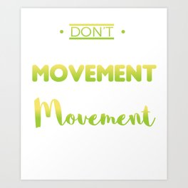 Awesome and Cool Parkour Tshirt Design Movement Art Print