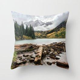 Maroon Bells - Colorado Throw Pillow
