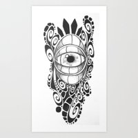 evil eye Art Prints featuring Evil Eye by King Catastropa