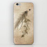 bohemian iPhone & iPod Skins featuring Bohemian Feather by LouJah