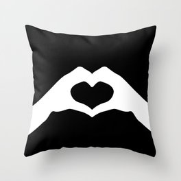Hands making a heart shape- portraying love Throw Pillow
