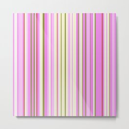 Stripe obsession color mode #9 Metal Print