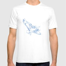 Flight Path White MEDIUM Mens Fitted Tee