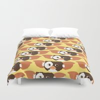gizmo Duvet Covers featuring gizmo by elvia montemayor