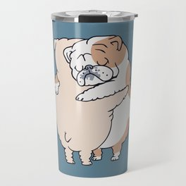 English Bulldog Hugs Travel Mug