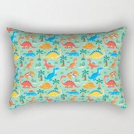 Dinos Green Rectangular Pillow
