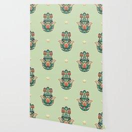 Hamsa Hand Pattern Wallpaper