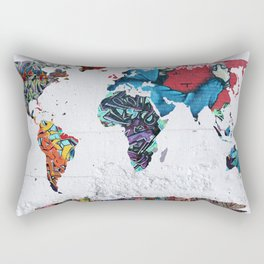 map of the world  Rectangular Pillow