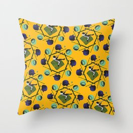 pop pattern_baseball Throw Pillow