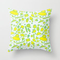 doodle brightness Throw Pillow