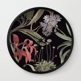 Dark Botanicals (pillow variant) Wall Clock
