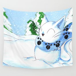 Snowcat Wall Tapestry
