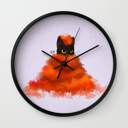 Autumn cat Wall Clock