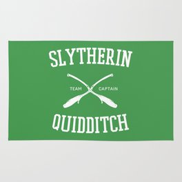 Hogwarts Quidditch Team: Slytherin Rug