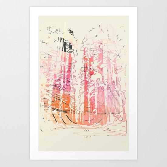 Redwood Forest Art Print